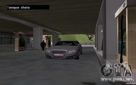 Auto petrolero en gasolinera para GTA San Andreas sucesivamente de pantalla