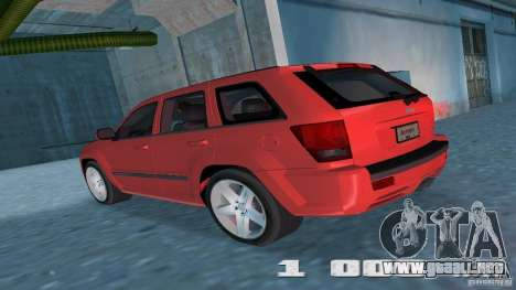 Jeep Grand Cherokee para GTA Vice City visión correcta