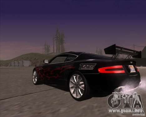 Aston Martin DB9 tunable para vista lateral GTA San Andreas