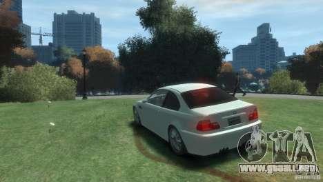 BMW M3 E46 para GTA 4 Vista posterior izquierda
