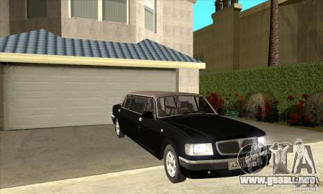 GAZ 3110 sedán para GTA San Andreas vista hacia atrás