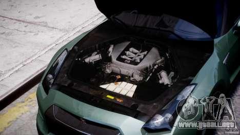 Nissan GT-R R35 2010 v1.3 para GTA 4 vista interior