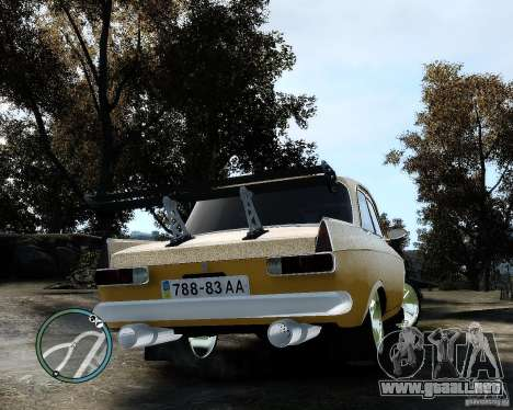 Moskvič 412 Street Racer [alfa] para GTA 4 visión correcta