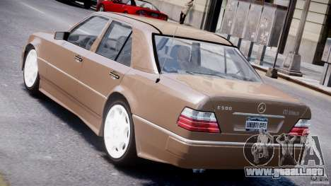Mercedes-Benz W124 E500 1995 para GTA 4 Vista posterior izquierda