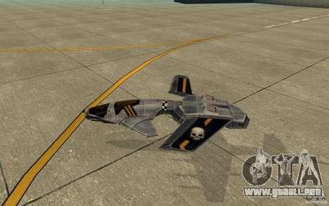 Hawk air Command and Conquer 3 para GTA San Andreas vista posterior izquierda
