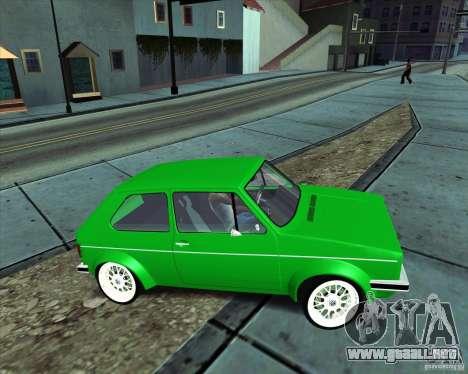 Volkswagen Golf MK 1 para la visión correcta GTA San Andreas