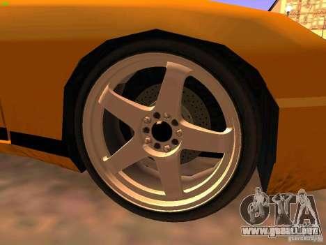 New Euros para GTA San Andreas vista posterior izquierda