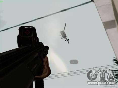 AUG-A3 Special Ops Style para GTA San Andreas sexta pantalla