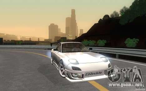 Mazda Rx7 C-West para visión interna GTA San Andreas