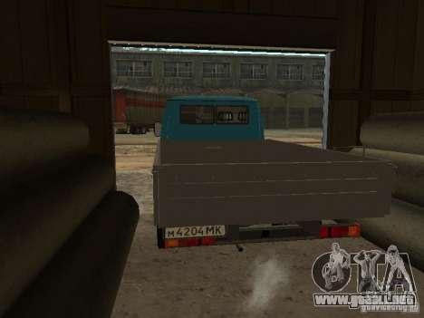 GAZ 33021 para GTA San Andreas vista posterior izquierda