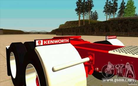 Kenworth K100 Extended Wheel Base para vista lateral GTA San Andreas