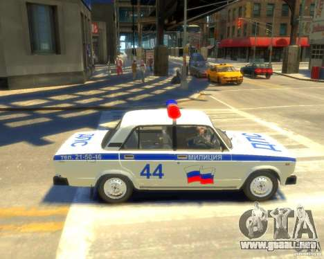 Policía Vaz 2105 para GTA 4 left