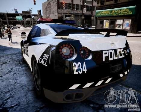 Nissan Spec GT-R Enforcer para GTA 4 Vista posterior izquierda