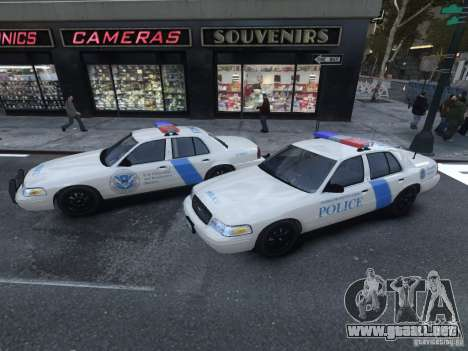 Ford Crown Victoria Homeland Security para GTA 4 Vista posterior izquierda