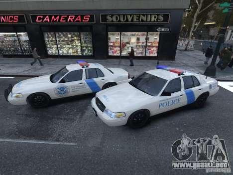 Ford Crown Victoria Homeland Security para GTA 4 Vista posterior izquierda