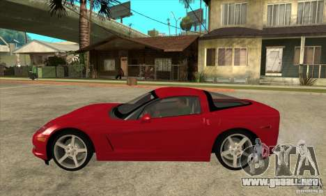 Chevrolet Corvette C6 Z51 - Stock para GTA San Andreas left
