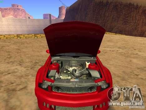Ford Mustang GT 2005 Tuned para la vista superior GTA San Andreas