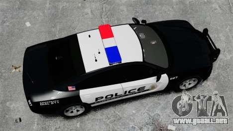 Dodge Charger 2013 Police Code 3 RX2700 v1.1 ELS para GTA 4 visión correcta