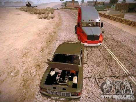 GAS-31025 para GTA San Andreas vista hacia atrás