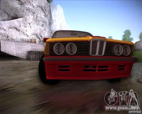 BMW E21 para vista lateral GTA San Andreas