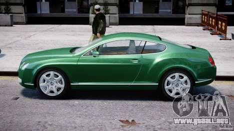 Bentley Continental GT para GTA 4 Vista posterior izquierda