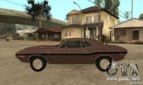 Dodge Challenger R/T Hemi 426 para GTA San Andreas left