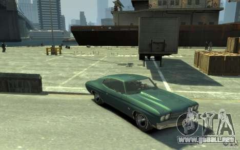 Chevrolet Chevelle SS 454 v2 para GTA 4 vista hacia atrás