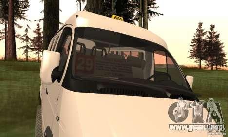 Gacela 32213 Novosibirsk Minibus para la visión correcta GTA San Andreas