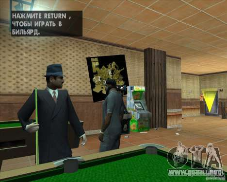 Salierys Bar para GTA San Andreas sucesivamente de pantalla