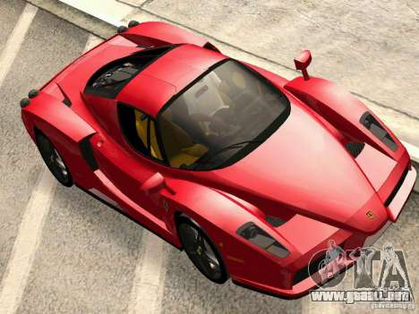Ferrari Enzo Novitec V1 para GTA San Andreas vista posterior izquierda