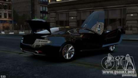 Aston Martin Virage 2012 v1.0 para GTA 4 vista hacia atrás
