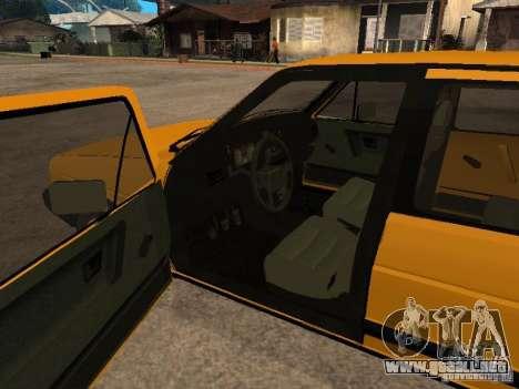 Volkswagen Jetta para GTA San Andreas vista posterior izquierda