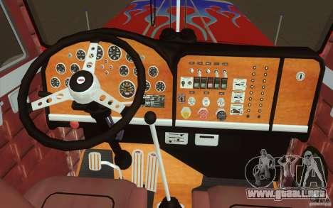 Peterbilt 379 Optimus Prime para la vista superior GTA San Andreas