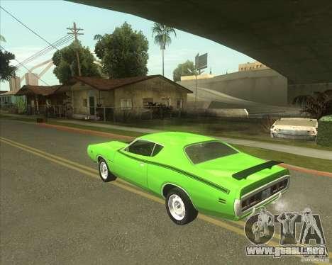 1971 Dodge Charger Super Bee para GTA San Andreas left