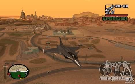 Dassault Rafale M para GTA San Andreas vista posterior izquierda