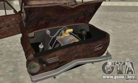 ZAZ 968 abandonado v. 2 para la vista superior GTA San Andreas