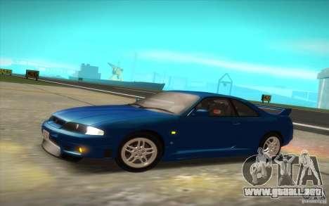 Nissan Skyline R33 GT-R V-Spec para GTA San Andreas vista posterior izquierda