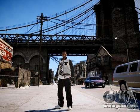 Niko - Cj para GTA 4 adelante de pantalla