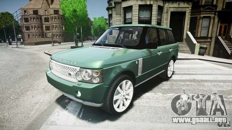 Range Rover Supercharged para GTA 4 left
