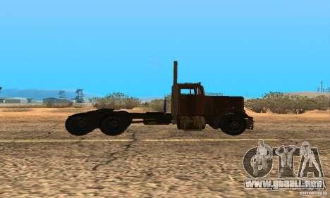 Duel Peterbilt para GTA San Andreas vista posterior izquierda