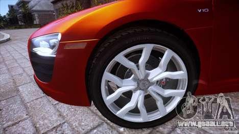 Audi R8 V10 para GTA 4 Vista posterior izquierda