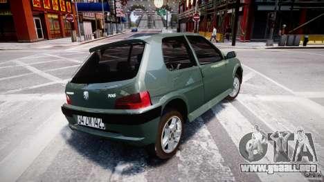 Peugeot 106 Quicksilver para GTA 4 visión correcta