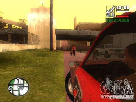 Hoja de FlatOut para GTA San Andreas vista hacia atrás