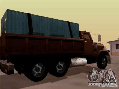New Flatbed para la visión correcta GTA San Andreas
