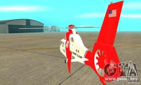 Guardacostas de Estados Unidos AS-365N para la visión correcta GTA San Andreas