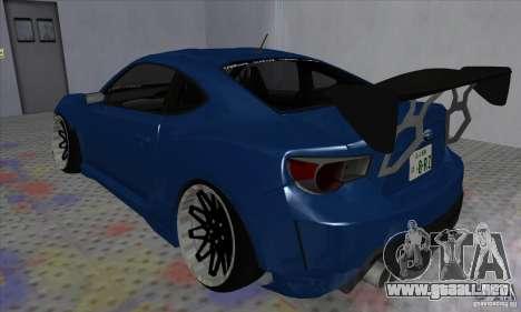 Subaru BRZ JDM para GTA San Andreas left
