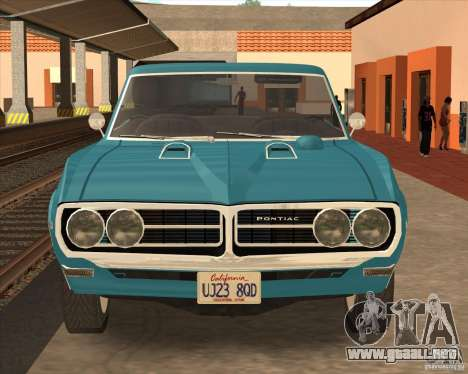Pontiac Firebird Conversible 1966 para GTA San Andreas left