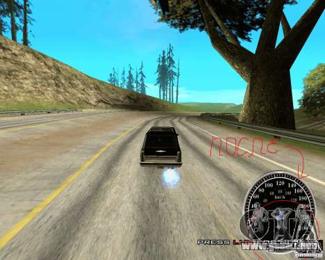 Perenniel Speed Mod para GTA San Andreas tercera pantalla