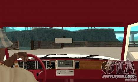 Dodge Aries 1983 para la visión correcta GTA San Andreas