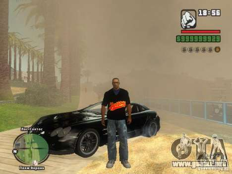 LA camiseta MIZ para GTA San Andreas quinta pantalla